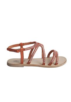 Little Pieces - sommer sandal Hot coral