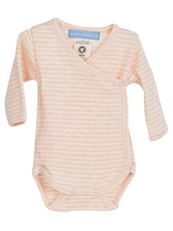 Serendipity - Premature slå-om-body, stribet Rose/Off-white
