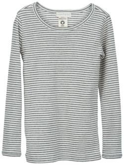 Serendipity - Stribet Bluse, Grey/Off White