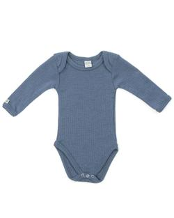 Smallstuff - Langærmet Uld Body, Denim