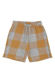 Soft Gallery - Alisdair Shorts Grey Melange, AOP Plaid