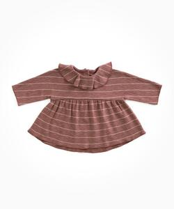 Play Up - Striped Jersey Blouse, Purplewood