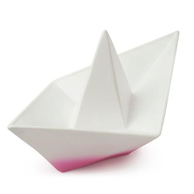 Goodnight light - Origami båd lampe, pink