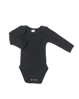 Smallstuff - Langærmet Uld Body, Black