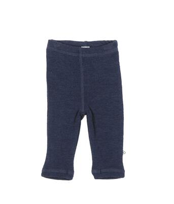 Smallstuff - Uld Leggings, Elefant Jaquard Navy